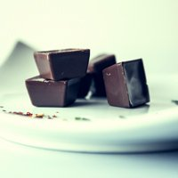 A balanced diet is chocolate in both hands