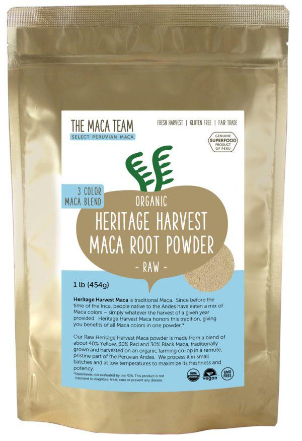Organic Raw Sundried 3 Color Maca Powder 1lb
