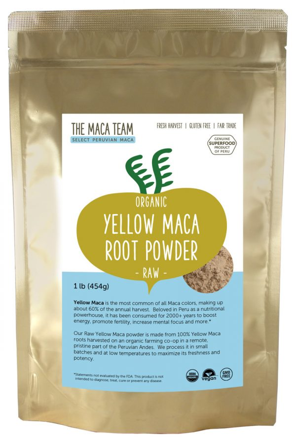 Organic Raw Sundried Yellow Maca Powder 1lb