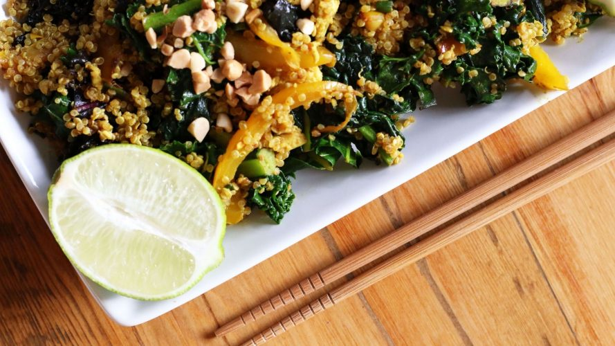 Curried Kale and Quinoa Stir Fry Recipe